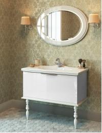 Edelform Decora 100 – комплект мебели для ванной, белый-глянец