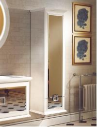 Edelform Milarita 45 – Подвесной пенал для ванной, фасад зеркальный