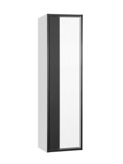Style Line Амстердам 30 Пенал подвесной, Белый матовый/черный