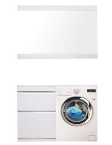 El Fante Даймонд 120 Мебель под стиральную машину, белый глянец, левая/правая