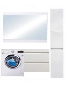 El Fante Даллас 130 Мебель подвесная под стиральную машину, Белый глянец