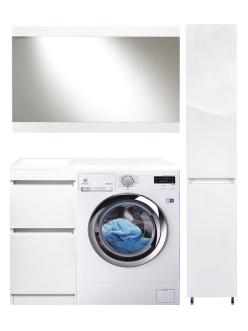 El Fante Даллас 100 Мебель напольная под стиральную машину, Белый глянец