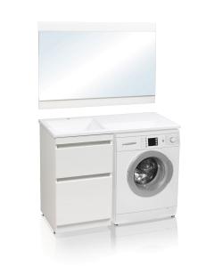 El Fante Даллас 110 Мебель под стиральную машину, белый глянец, левая/правая