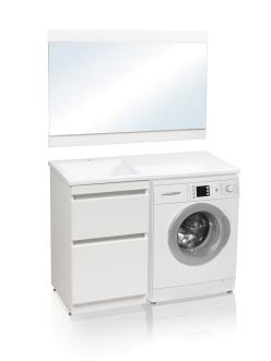 El Fante Даллас 110 Мебель напольная под стиральную машину, Белый глянец
