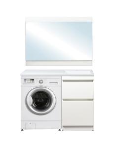 El Fante Даллас 115 Мебель под стиральную машину, белый глянец, левая/правая