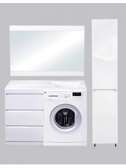 El Fante Даллас 120 Мебель напольная под стиральную машину, Белый глянец