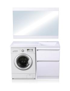 El Fante Даллас 120 Мебель под стиральную машину, белый глянец, левая/правая