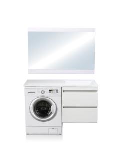 El Fante Даллас 110 Мебель подвесная под стиральную машину, Белый глянец