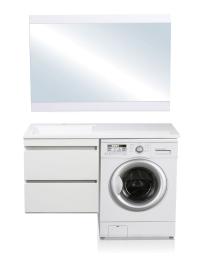El Fante Даллас 120 Мебель подвесная под стиральную машину, цвет белый, лев/прав