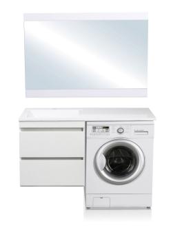El Fante Даллас 120 Мебель подвесная под стиральную машину, Белый глянец