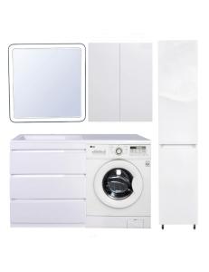 El Fante Даллас 140 Мебель под стиральную машину, белый глянец, левая/правая