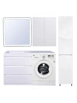 El Fante Даллас 140 Мебель напольная под стиральную машину, Белый глянец