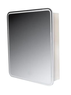 Style Line Каре 60 Зеркальный шкаф с подсветкой, Белый