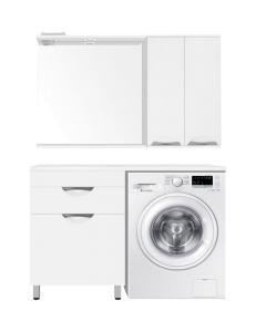 El Fante Жасмин 120 (1 ящ.) Мебель напольная под стиральную машину, белый глянец, левая/правая