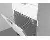 El Fante Жасмин 120 (1 ящ.) Мебель напольная под стиральную машину, Белый глянец
