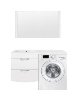 El Fante Жасмин 120 Мебель подвсеная под стиральную машину, Белый глянец