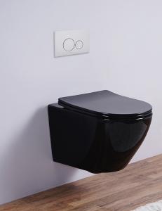 Esbano AZALEA Унитаз подвесной безободковый, черный