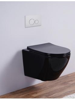Esbano AZALEA Унитаз подвесной безободковый черный