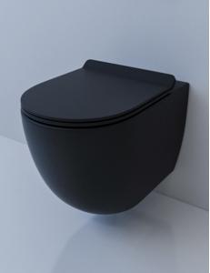 Esbano GARDENA Унитаз подвесной безободковый, черный матовый