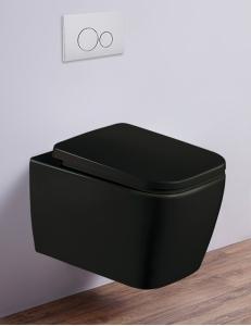 Esbano TIRON-C Унитаз подвесной безободковый, черный матовый