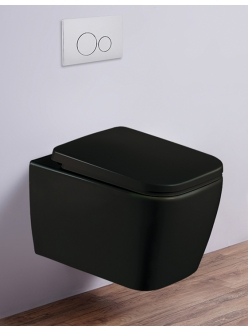Esbano TIRON-C Унитаз подвесной безободковый черный матовый