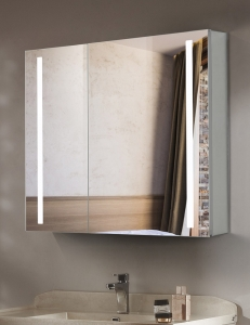 Esbano ES-2404 Зеркальный шкаф с led подсветкой, розеткой и ИК-включателем