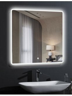 Esbano ES-2073TDS Квадратное зеркало для ванной с подсветкой и антизапотеванием