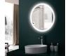 Esbano ES-2481YD Круглое зеркало для ванной с подсветкой и подогревом