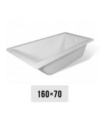 Эстет Дельта 160х70 Ванна прямоугольная из литьевого мрамора