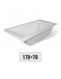 Эстет Дельта 170х70 Ванна прямоугольная из литьевого мрамора