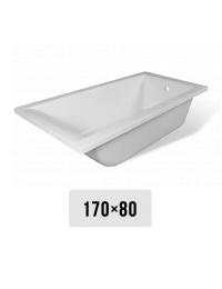 Эстет Дельта 170х80 Ванна прямоугольная из литьевого мрамора