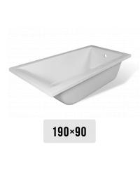 Эстет Дельта 190х90 Ванна прямоугольная из литьевого мрамора