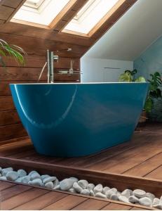 Эстет Майами 168х78 Ванна овальная отдельностоящая Бирюзовая