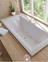 Эстет Стелла 180х80 Ванна прямоугольная из литьевого мрамора