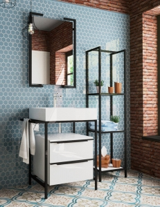 Эстет Comfort Loft Напольный комплект кованной мебели в стиле Лофт, 2 ящика