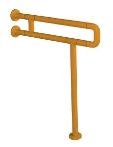 Поручень U-образный для ванной и туалета с креплением к полу, Жёлтый