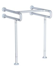 Поручень для писсуара настенный с креплением к полу, 62х60х85 см (гшв)