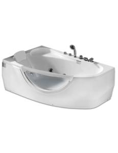Gemy G9046 B Ванна гидромассажная пристенная 161х96 см, белый