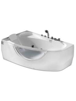 Gemy G9046 B  Ванна гидромассажная пристенная, 161х96 см, белый