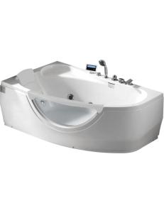 Gemy G9046 K Ванна гидромассажная пристенная 161х96 см, белый