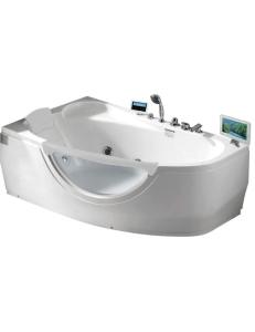 Gemy G9046 O Ванна гидромассажная пристенная 161х96 см, белый