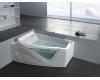 Gemy G9056 B Ванна гидромассажная пристенная, 170х130 см, белый
