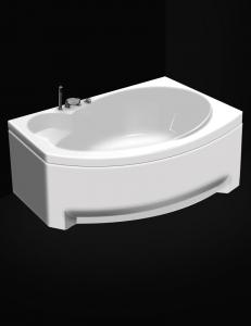GNT Fresh 170x105 – Асимметричная акриловая ванна