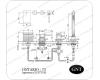 GNT Ontario-73 H 37318 Каскадный смеситель на борт ванны