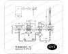 GNT Torrens-73 H 47318 Каскадный смеситель на борт ванны