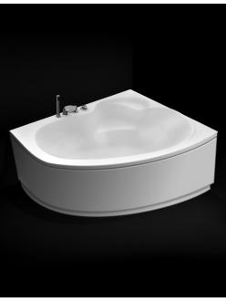GNT Nice 160x105 – Асимметричная акриловая ванна на каркасе с сифоном