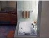 GNT Image 190x90 – Прямоугольная акриловая ванна на каркасе с сифоном