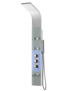 GPD DSP07 Гидромассажная душевая панель с термостатом, Белый