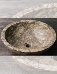 Natural Stone Раковина-чаша из натурального мрамора Doreng, круглая 45 см