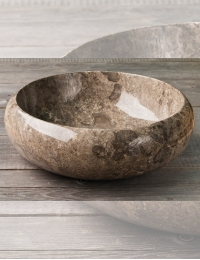 Natural Stone 45 Donut Grey Круглая накладная раковина из серого мрамора